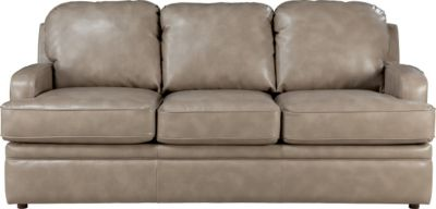 La-Z-Boy Diana Premier Tan Bonded Leather Queen Sleeper