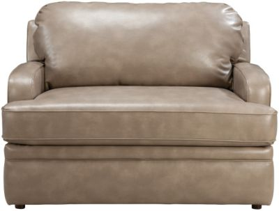 La-Z-Boy Diana Premier Tan Bonded Leather Twin Sleep Chair