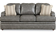La-Z-Boy Diana Premier Gray Bonded Leather Queen Sleeper
