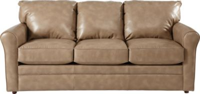 La-Z-Boy Leah Tan Queen Premier Sleeper Sofa