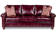 La-Z-Boy Leighton Burgundy 100% Leather Sofa