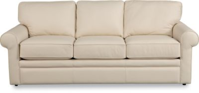 La-Z-Boy Collins Cream 100% Leather Sofa