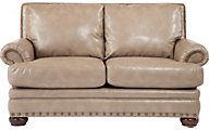 La-Z-Boy Brennan Tan Bonded Leather Loveseat