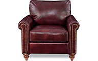 La-Z-Boy Leighton Burgundy 100% Leather Chair