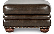 La-Z-Boy Brennan Chocolate Bonded Leather Ottoman