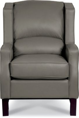 La-Z-Boy Cosmopolitan Gray 100% Leather Wing Chair
