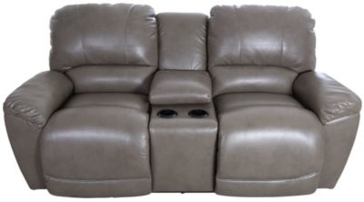La-Z-Boy Tyler Gray Power Reclining Loveseat with Console