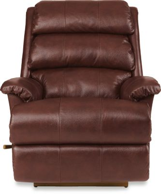 La-Z-Boy Astor Burgundy Leather Rocker Recliner