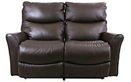 La-Z-Boy Rowan Brown Leather Power Reclining Loveseat