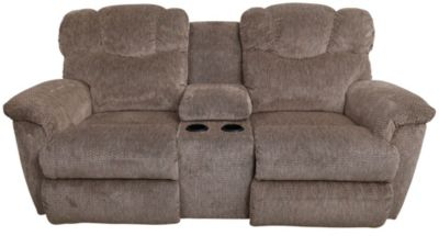 La-Z-Boy Lancer Tan Power Reclining Loveseat with Console
