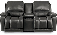La-Z-Boy Greyson 100% Leather Power Loveseat