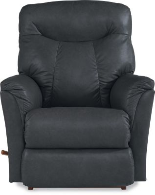 La-Z-Boy Fortune Gray Leather Rocker Recliner