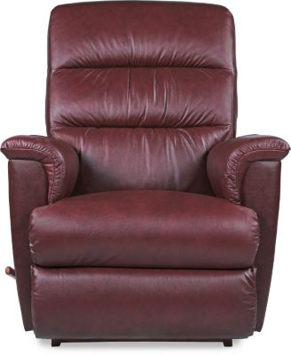 La-Z-Boy Tripoli Red Leather Rocker Recliner