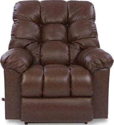La-Z-Boy Gibson Brown Leather Rocker Recliner