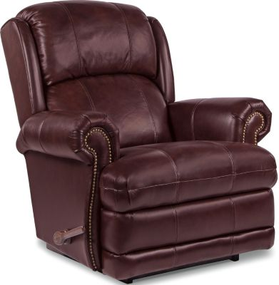 La-Z-Boy Kirkwood Burgundy Leather Rocker Recliner