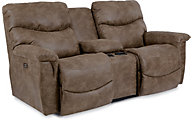 La-Z-Boy James Power Reclining Console Loveseat