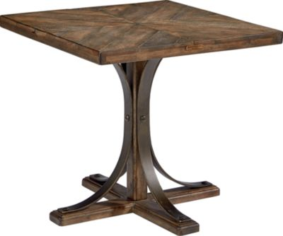 Magnolia Home White Oak Pedestal End Table