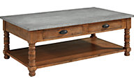 Magnolia Home Primitive Zinc Top Coffee Table