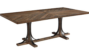 Magnolia Home Traditional Iron Trestle Table
