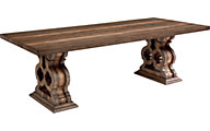 Magnolia Home Traditional Double Pedestal Table