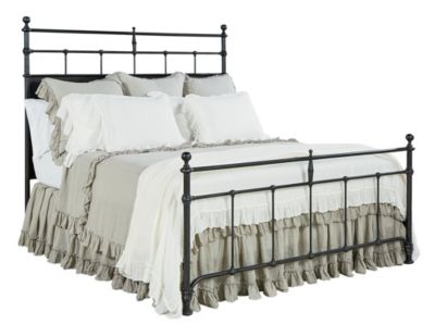 Magnolia Home Traditional Queen Metal Trellis Bed