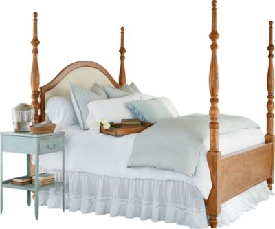 Magnolia Home Primitive Queen Upholstered Poster Bed