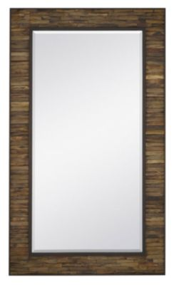 Majestic Mirror Natural Wood Leaner Mirror