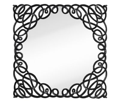 Majestic Mirror Black Squiggle Mirror
