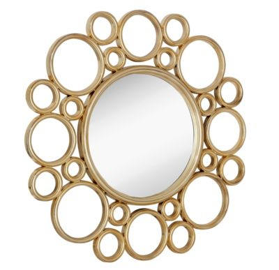 Majestic Mirror Gold Circles Mirror
