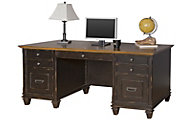 Martin Furniture Hartford Double Pedestal Desk