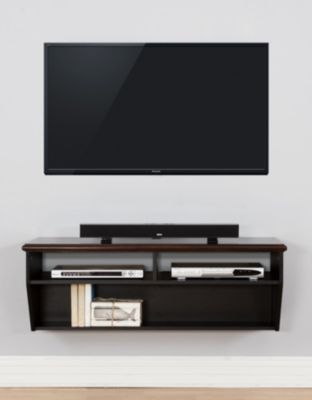 Martin Furniture 48-Inch Wood Top Wall Mount Console