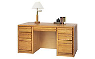 Martin Furniture Contemporary Double Pedestal Desk