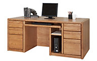 Martin Furniture Contemporary Double Pedestal Computer Desk