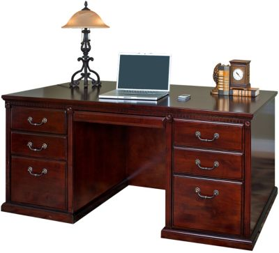 Martin Furniture Huntington Cherry Double Pedestal Desk
