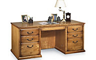 Martin Furniture Huntington Wheat Double Pedestal Desk