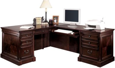 Martin Furniture Mount View L-Shaped Desk