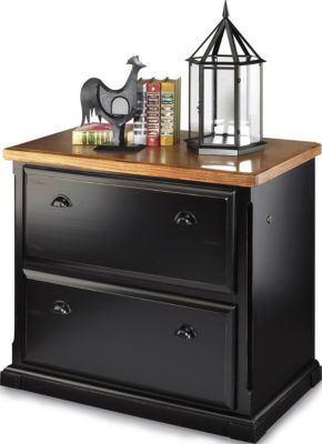 Martin Furniture Southhampton Onyx Black Lateral File
