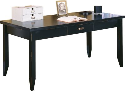 Martin Furniture Tribeca Loft Midnight Smoke Black Writing Table