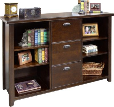 Martin Furniture Tribeca Loft Cherry 3-Drawer Bookcase