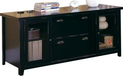Martin Furniture Tribeca Loft Midnight Smoke Black Storage Credenza