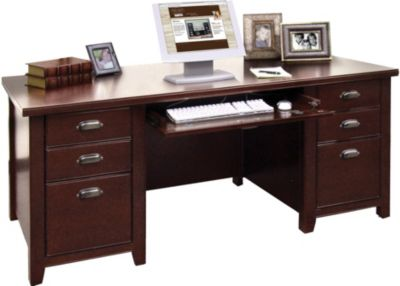 Martin Furniture Tribeca Loft Cherry Double Pedestal Desk