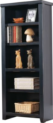 Martin Furniture Tribeca Loft Midnight Smoke Black Bookcase