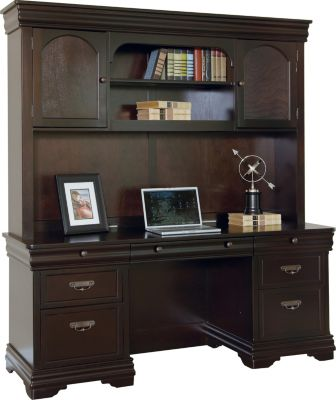 Martin Furniture Beaumont Office Credenza and Hutch