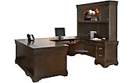 Martin Furniture Beaumont Office U-Shaped Desk with Hutch