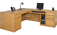 Martin Furniture Contemporary Office RHF Desk