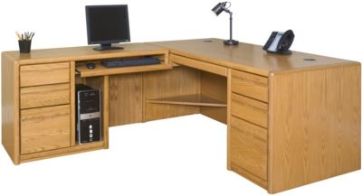 Martin Furniture Contemporary Office LHF Desk