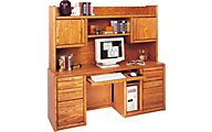 Martin Furniture Contemporary Credenza and Bookshelf Hutch
