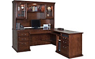 Martin Furniture Huntington Burnished RHF Desk with Hutch