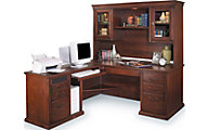 Martin Furniture Huntington Burnished LHF Desk with Hutch