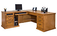 Martin Furniture Huntington Wheat LHF Desk